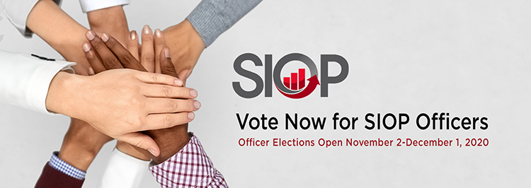 Vote Now for SIOP Officers-Elections Open November 2 to December 1