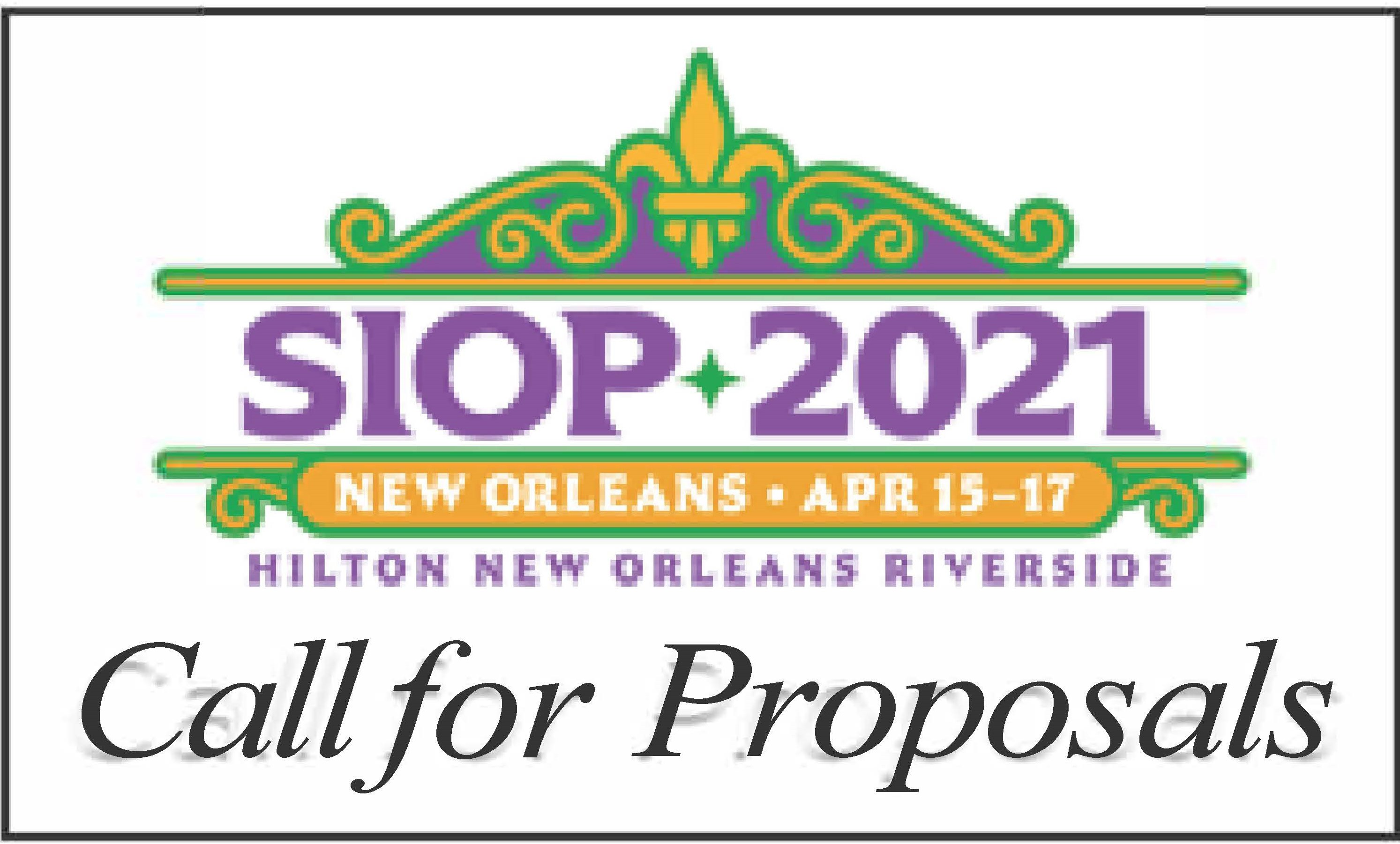 SIOP 2021 Call for Proposals